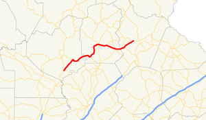 Georgia State Route 115 - Image: Georgia state route 115 map