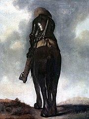 Man on Horseback, seen from the back