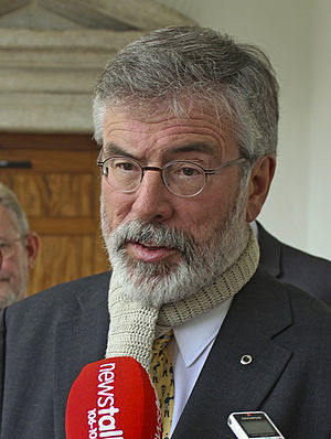 Leader of Sinn Féin - Image: Gerry Adams 2013