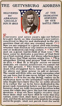 Gettysburg Address  Simple English Wikipedia The Free Encyclopedia Gettysburg Address