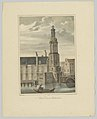 Gezicht op de Munttoren te Amsterdam Munt Toren te Amsterdam (titel op object) Gezichten van de Zes Voornaamste Torens der Stad Amsterdam. 2de Cahier (serietitel), RP-P-1905-1065.jpg