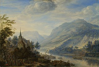View of the Rhine river near Reineck