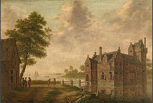 Jean-Antoine Locquet, 1st Viscount of Hombeke - Carmoisteyn Castle; Residence of Jean Antoine; in Hombeek. Painted by Hendrik Frans de Cort, Royal Museum of Fine Arts Antwerp.