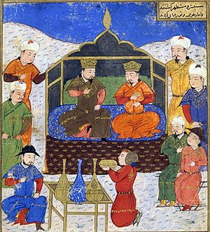 Hazaras - A 1430 Persian miniature depicting Ghazan and his brother Öljaitü.