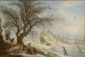 Gijsbrecht Leytens - Winter Landscape with Wood Gatherers.PNG