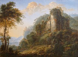 Gillis Neyts: Landscape with Castle Ruins
