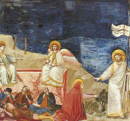 Giotto - Scrovegni - -37- - Resurrection (Noli me tangere).jpg