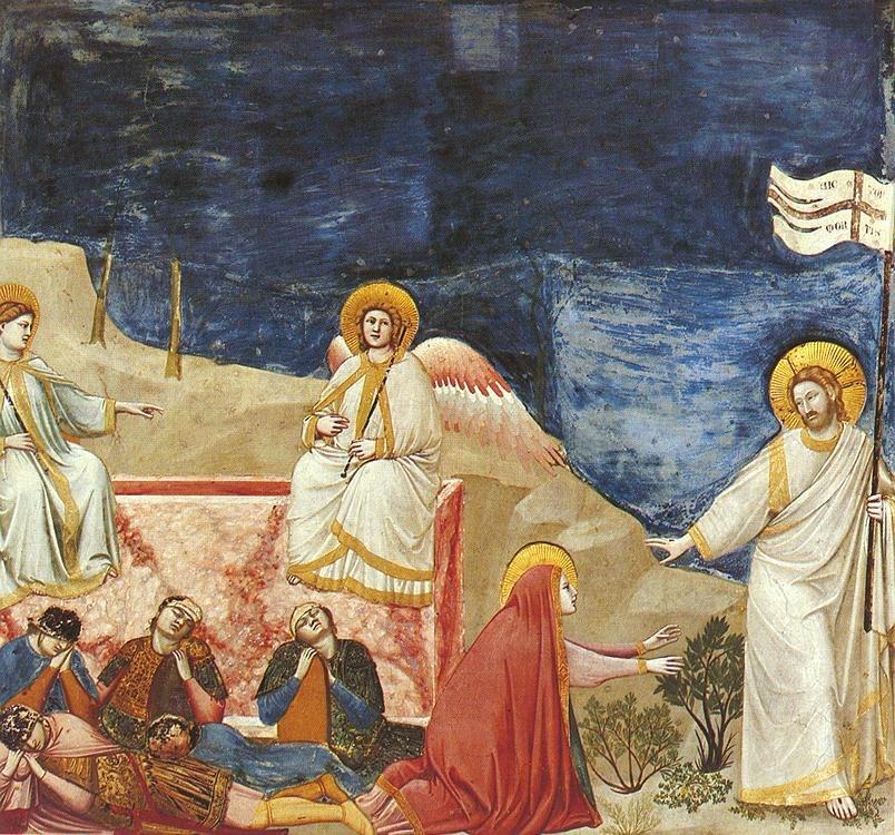 Giotto - Scrovegni - -37- - Resurrection (Noli me tangere)
