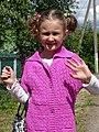 Girl Waves Hello - Polotsk - Vitebsk Oblast - Belarus (27552846901).jpg
