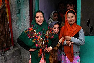 Kargil district - Local girls in Kargil