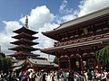 Gojunoto Tower and Hozomon Gate of Sensoji Temple.JPG