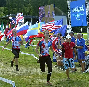 Relay race - World Orienteering Championship 2008 gold medal winners in relay