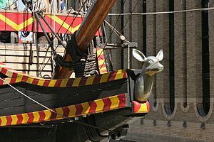 Golden Hinde (1973) - The figurehead of the replica