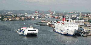 Gothenburg, Sweden, from the Älsborgs Bridge