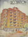 Gowrie Gate Building on the cover of Decoration & Glass. 1 September, 1938.png