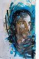 Graffiti in Shoreditch, London - Male Portrait by C215 (9447053142).jpg