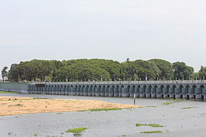 Chola Nadu - Kallanai / Grand Anicut built by Karikala Cholan, on the River Kaveri, near Tiruchirappalli