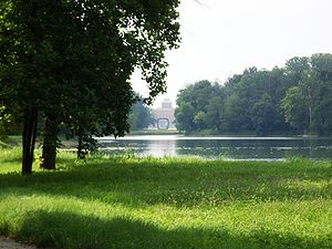 Castle of Racconigi - Park with the big lake