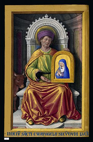 Luke the Evangelist - Miniature of Saint Luke from the Grandes Heures of Anne of Brittany (1503–1508) by Jean Bourdichon.