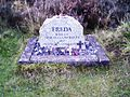 Grave of Freda the mascot.jpg