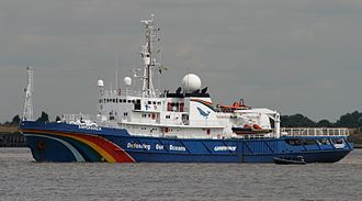 Greenpeace - MV ''Esperanza'', a former fire-fighter owned by the Russian Navy, was relaunched by Greenpeace in 2002