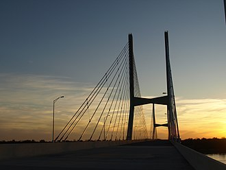 Greenville, Mississippi - Greenville Bridge, a cable-stayed bridge crossing the Mississippi River.