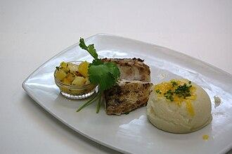 Mahi-mahi - Image: Grilled Mahi Mahi