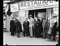 Group outside 1 Cent Restaurant, National Demonstration, Bernarr MacFadden Foundation Unemployment Relief LCCN2016890054.jpg
