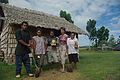 Group shot of Bethesda volunteer Susan Larson standing in front of a traditional kitchen with students at Bethesda rural training centre. (10699646304).jpg