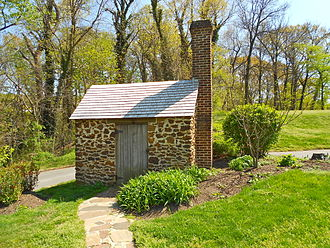 """Frederick Douglass National Historic Site - The reconstructed """"Growlery"""" where Douglass worked at his writing."""