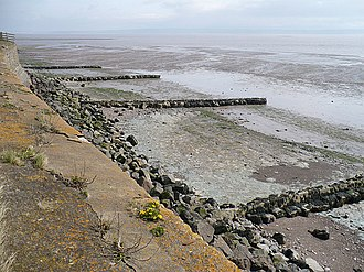 Goldcliff, Newport - Groynes at Goldcliff Point