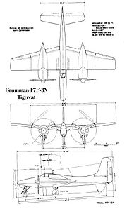Grumman F7F-3N drawing