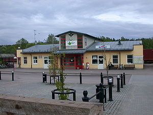 Grums railway station Grums Sweden.JPG
