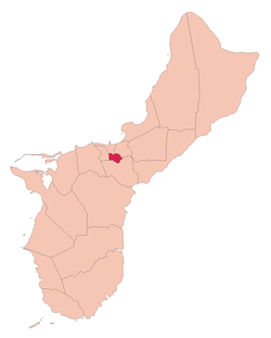 Location of Sinajana, Guam within the Terrority of Guam.