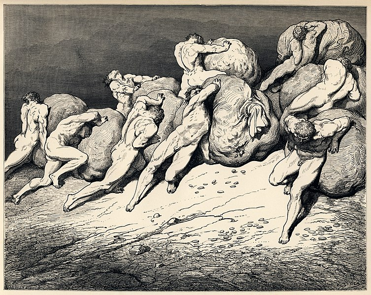 File:Gustave Doré - Dante Alighieri - Inferno - Plate 22 (Canto VII - Hoarders and Wasters).jpg