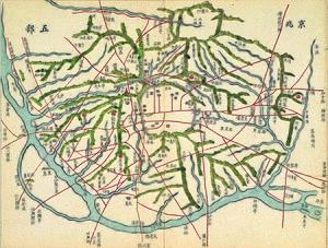 History of Seoul - Gyeongjo-obu-do, an old map of Seoul.