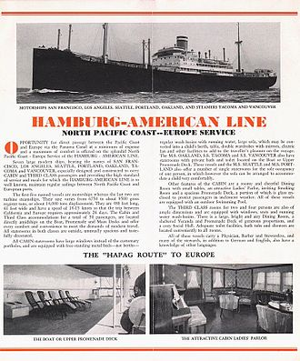Hamburg America Line - Promotion of the Hamburg-American Line (1930)