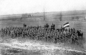 Bicycle infantry - German bicycle infantry during World War I