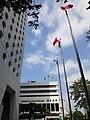 HK 中環 Central 干諾道中 Connaught Road Central near 怡和大廈 Jardine House Hong Kong General Post Office Building flagpoles blue sky October 2020 SS2 02.jpg