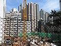 HK 石塘咀 Shek Tong Tsui 翰林峰 Novum West construction site view from Clarence Terrace Nov 2017 IX1 04.jpg