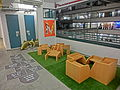 HK Sheung Wan PMQ mall Hollywood Road night shop corridor balcony May-2014 008.JPG
