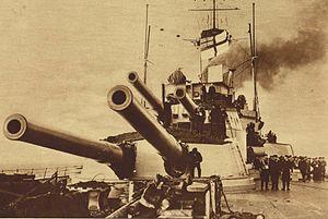 BL 12 inch Mk XI – XII naval gun - Aft Mk XII guns of HMS ''Hercules''