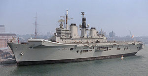 Jock Slater - The aircraft carrier HMS ''Illustrious'' which Slater commanded in the early 1980s