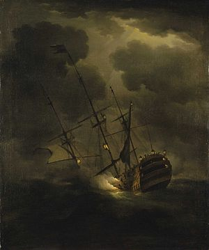 HMS Victory (1737) - Image: HMS Victory sinking