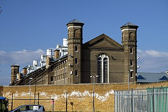 HM Prison Wormwood Scrubs - Building inside the prison area