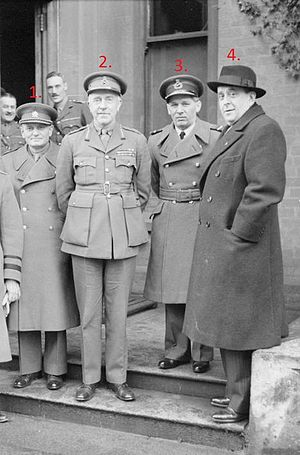 Karel Janoušek - Czechoslovak leaders in exile visiting Northern Ireland in the Second World War.