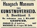 Haagsch Museum van Kunstnijverheid, Haagsche Courant, 25-02-1891, p. 4.jpg