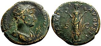 Wilderness Plantation - A single Hadrian dupondius coin was found at Wilderness West.