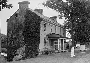 Stanton, Delaware - The Hale-Byrnes House, where George Washington met with his officers prior to The Battle of Brandywine