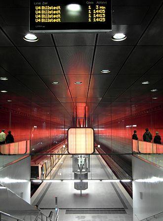 HafenCity Universität (Hamburg U-Bahn station) - The station's intermediate level